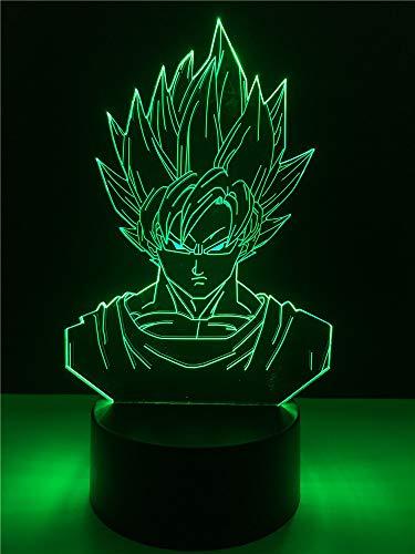 Bright love Dragon Ball Super Messie Singe Roi de caractère Action 3D Lampe de lumière Table 7 Couleurs Changer Nuit Lampe bébé garçon Cadeau