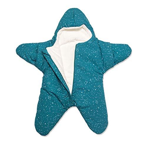 EsTong Baby Sleepsack Wearable Blanket Starfish Swaddling Bunting Sleeping Bag Nest Nightgowns Newborn Malachite Green (Fleece Lined)
