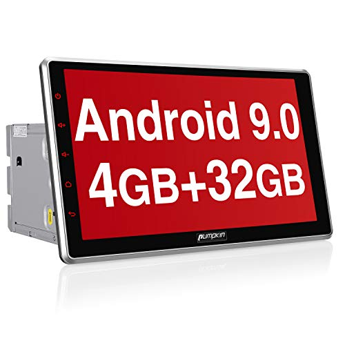 PUMPKIN Android 9.0 Autoradio 10.1 Zoll Radio mit Navi 4G / 8 Core Unterstützt Bluetooth DAB + USB Android Auto WiFi MicroSD 2 Din Universal
