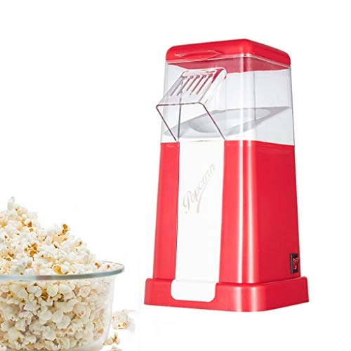 Best Deals! Fast Hot Air Popcorn Popper with Top Cover,Electric Popcorn Maker Machine,Healthy & Deli...