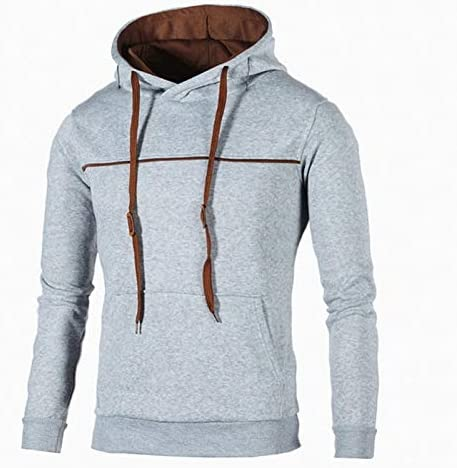 Mode Homme À Capuche Sweat À Capuche Casual Overs Hip Hop Survêtement Tops Pocket Outwear Plus Size 3XL Hoodies Streetwears (Color : B1-XXL) B4-M