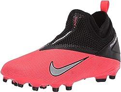 Nike Phantom Vsn 2 Academy DF Fgmg, Scarpe da Corsa Unisex-Adulto, Laser Crimson/Metallic Silver, 37.5 EU