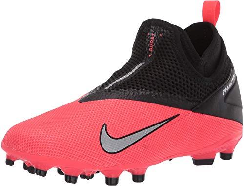 Nike Phantom VSN 2 Academy DF FG/MG, Scarpe da Calcio Unisex-Bambini, Rosso Laser Crimson Metallic Silver 606, 35 EU