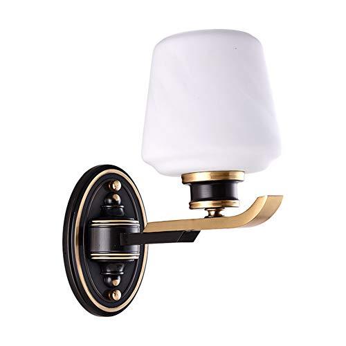 Wandlampen Zwart LED Koper hoogwaardig Glas, Geschikt voor Woonkamer Eetkamer Studie Slaapkamer Porch Aisle TV Achtergrond Muur