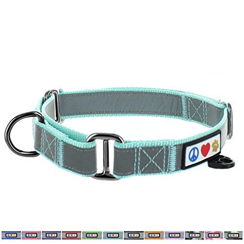 PAWTITAS Martingale Hundehalsband Welpenhalsband Reflektierendes Hundehalsband Trainingshalsband für Hunde Erziehungshalsband für Hunde Mittel Hundehalsband Knickente Hundehalsband