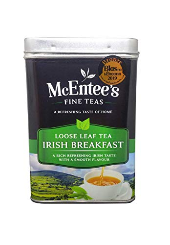 McEntees Irish Breakfast Tea - 500g Tin - Expertly Blended in Ireland. A Traditional Irish Blend of Ceylon and Assam teas Delivering That Taste of Home.
