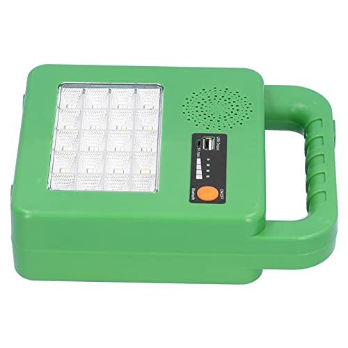 Luz de trabajo solar, ahorro de energía y protección del medio ambiente Luz de emergencia 5000LM Durable para escalada Camping Supervivencia, senderismo, buceo