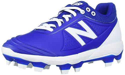 New Balance Women's Fuse V2 TPU Molded Softball Shoe, Royal/White, 6 M US