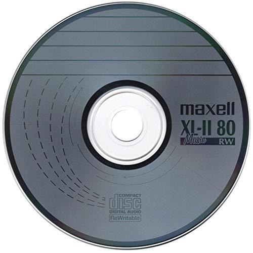5 x Maxell CD-RW XL-II Audio Music Rohlinge Kratzfest