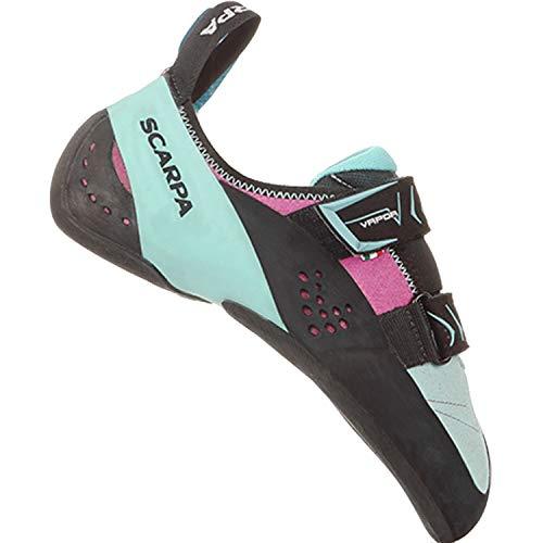 SCARPA Women's Vapor V Rock Climbing Shoe - Dahlia/Aqua - 8