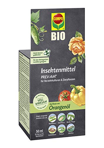 Compo Insektenmittel PREV-AM, Bekämpfung von Wollläusen und Schildläusen an Zierpflanzen und Fruchtgemüse, 50 ml