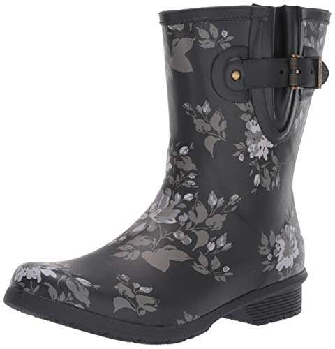 Chooka Women's Rain Boot's Mid-Height Printed Memory Foam Calf, Abbie, 6