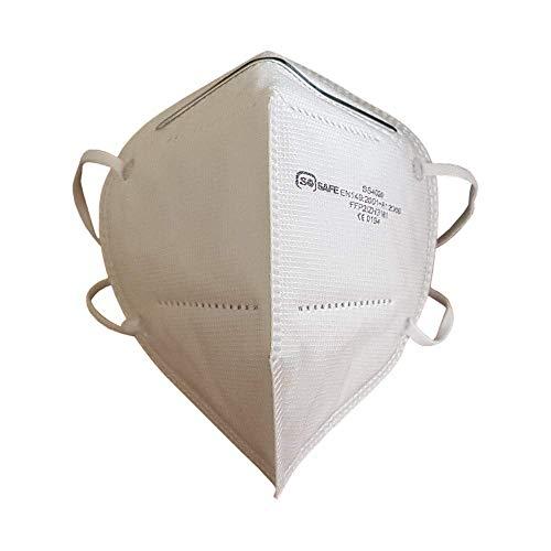 Mundschutz Maske FFP2 perfekt für Mund- und Nasenschutz Schutzmaske Atemschutzmaske Atemmaske Einwegmaske 4-lagig CE Zertifiziert (10)