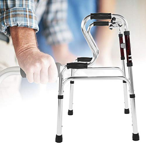 Oumefar Riel de Seguridad para Inodoro de Altura Ajustable Marco de Seguridad para Inodoro Asas cómodas Andador médico Aleación de Aluminio Durable para Ancianos para Movilidad Limitada
