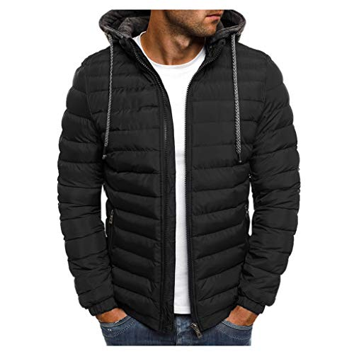 MAYOGO Jacke Herren Leichte Steppjacke Winterjacke Wattierte Jacke Puffer Jacke Winter Jacke (Schwarz, 3XL)