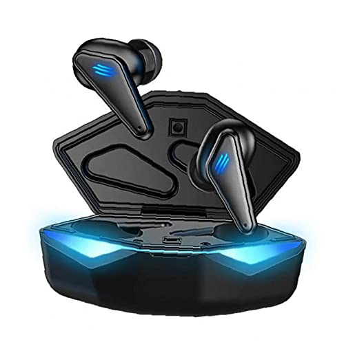 Auriculares Bluetooth Wireless Gaming Auriculares de Baja latencia Mini estéreo en el oído Deportes Impermeable Auriculares con micrófono Negro