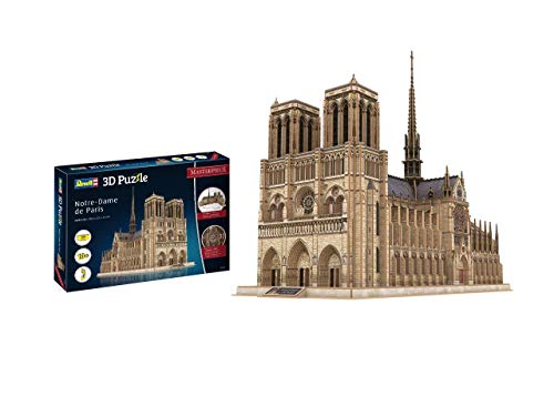 Revell- Notre Dame de Paris, Masterpiece, 293 Parts 3D Puzzle, Multicolor (0193)