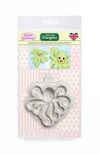 Octopus siliconen mal voor taartdecoratie, ambachten, cupcakes, suikerwerk, snoepjes, kaarten maken en klei, voedselveilig goedgekeurd, gemaakt in het Verenigd Koninkrijk, suikerknoppen