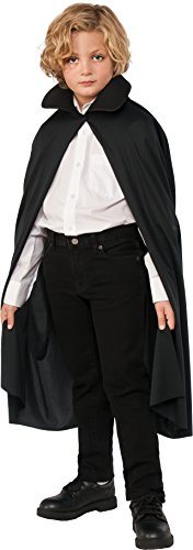 """Rubie's Costume Child's 36"""" Cape with Collar, Black, One Size"""