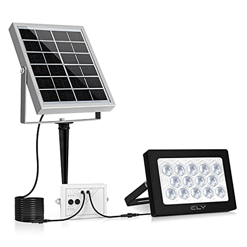 CLY 14 LED Solar Lights, Outdoor Security Floodlight, 400...