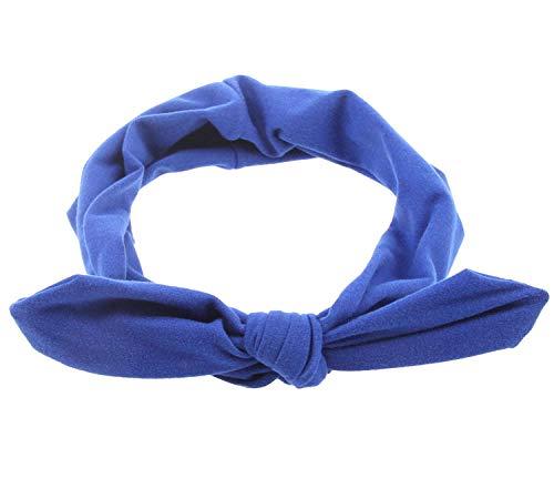 Accessoires pour cheveux Lapin oreille bandeau arc cheveux accessoires femmes européenne et américaine populaire coiffure-adulte bleu royal