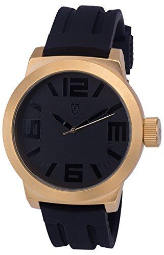 Konigswerk Mens Watch Silicone Band, Dial and Case Quartz AQ202893G (Gold)