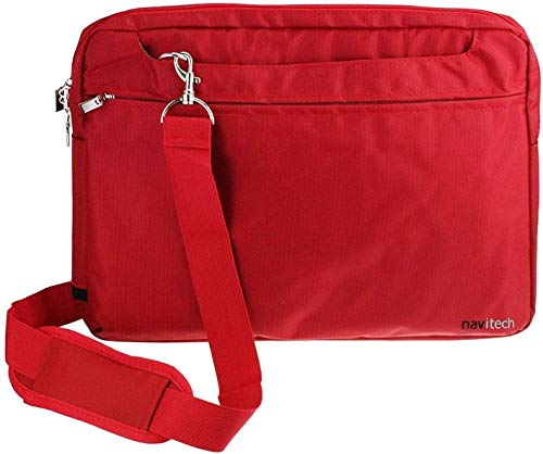 Navitech Red Sleek Premium Water Resistant Shock Absorbent Carry Bag Case Compatible With The Acer Aspire Switch 11 V SW5-173