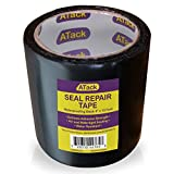 ATack Waterproof Patch and Seal Tape, Black, 4 Inches x 10 Feet, Water Barrier Tape for Stop Leak Repair on Pipes, Chimney, Roof, Boat, and HVAC