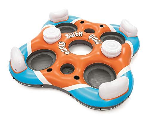 Bestway 1043115 Rapid Rider X4 River, Lake, Pool Tube Float, White/Blue