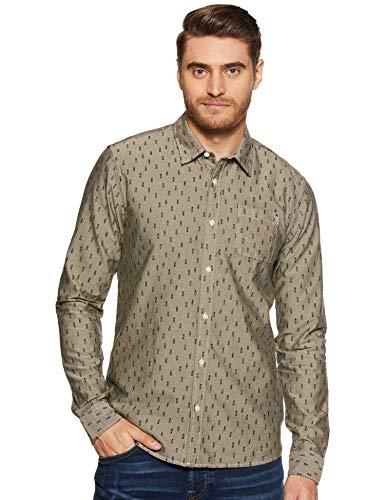 Scotch & Soda Herren Langarmhemd AMS Blauw Shirt 148204 Combo D M