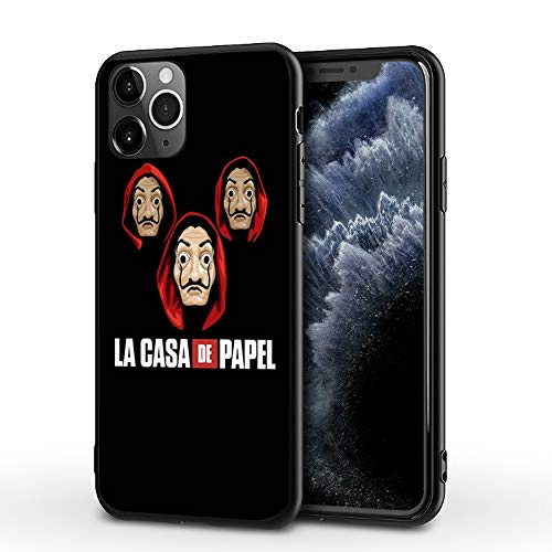 JIJUEMIU iPhone XS MAX Funda Carcasa Suave La Casa de Papel...