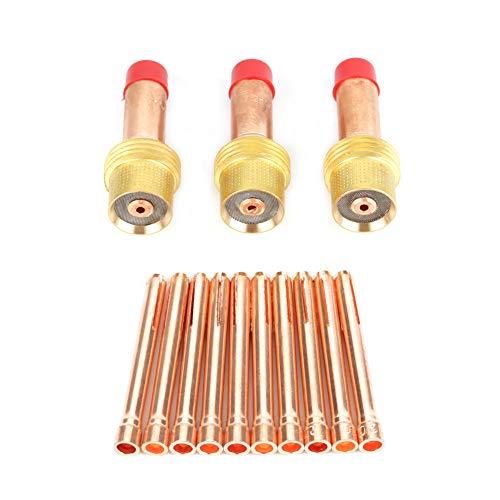 3 stuks 45 V 25 m spantang lichaam gas lens 10 stuks 10N24 Mt spantang voor pruik lasbrander WP 17/18/26 2,0 mm goud + rood