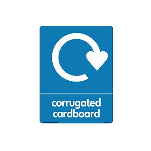 WRAP - Cartel reciclaje corrugado signos logotipo