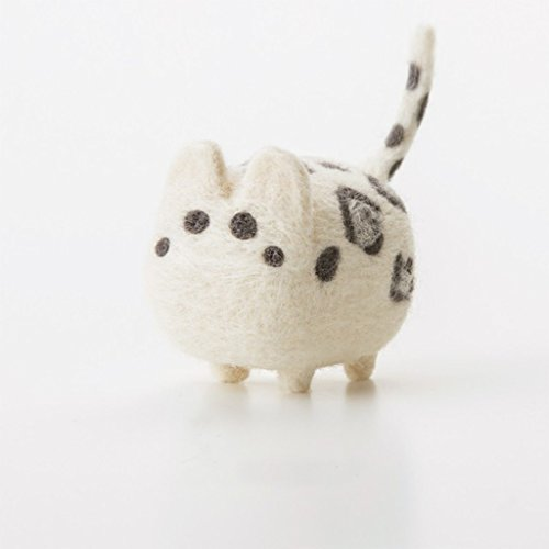 Truslin - DIY Needle Felting Kit with Gift Box Faceless Animal - White Leopard