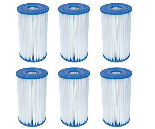 Bestway Pool Filter Pump Replacement Cartridge Type IV/B (6-Pack)...