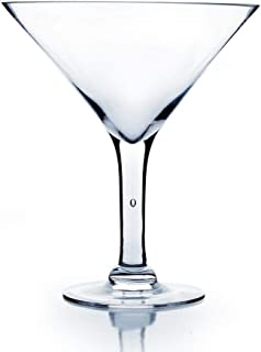 WGV Clear Martini Glass Vase, 10-Inch