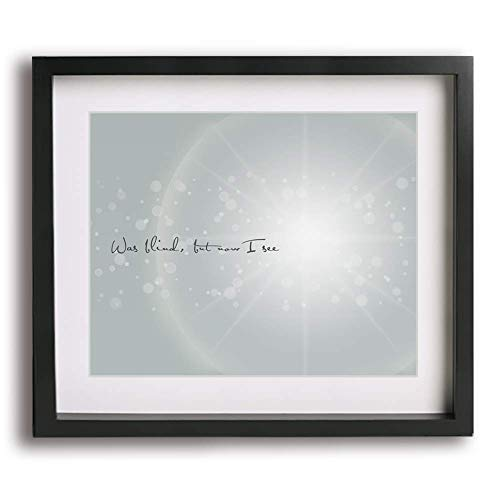 Amazing Grace inspired song lyric wall art print, inspirational holiday decor