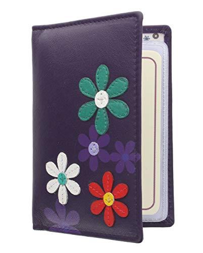 Mala Leather Colección Cara Tarjetero de Crédito 620_73 Púrpura