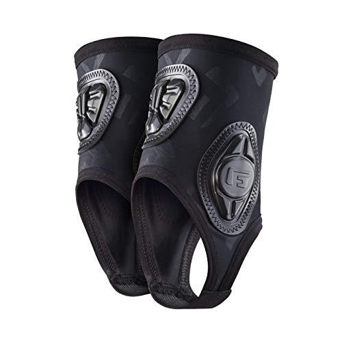 G-Form Pro Knöchelschützer (Herren/Damen) – Protektoren für Fußball, Volleyball, Basketball, Tanzen, Fahrrad mit erweitertem Schlagschutz und verbesserter Flexibilität - Schwarz - Größe S/M