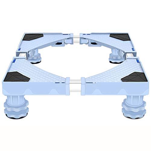 Dollies Base móvil - Nevera Lavado Lavado base de la máquina de la máquina de lavado Soporte ajustable base de la máquina del soporte del soporte del sostenedor Accesorios Conveniente Carrito móvil de
