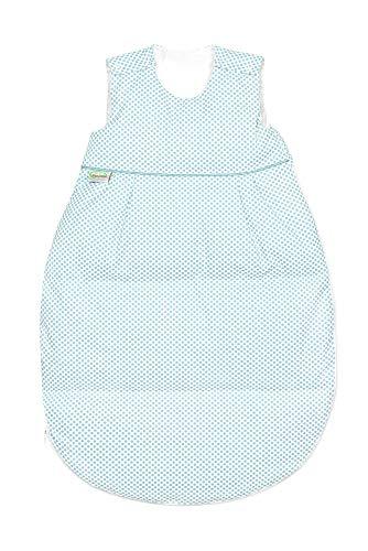 Odenwälder Daunen-Schlafsack Thermo-Nest dots, Größe:130, Design:soft mint