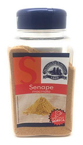 Senape Macinata - 320 g - Senape Essiccata in polvere - Aroma Intenso - Uso Principale con le Carni Grasse, Bollito - Da aggiungere alle Salse solo a fine Cottura