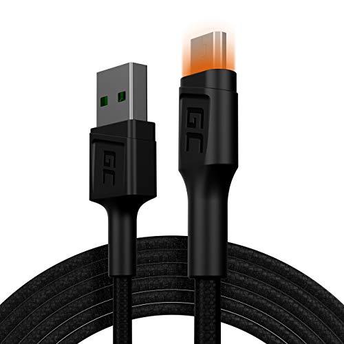 GC Ray LED | 1,2m Micro USB Nylon Kabel Ladekabel Schnellladekabel High Speed Data&Sync mit Quick Charge 3.0 für Samsung, Xiaomi, Huawei, Nexus, LG, Motorola, Android Smartphones und weitere