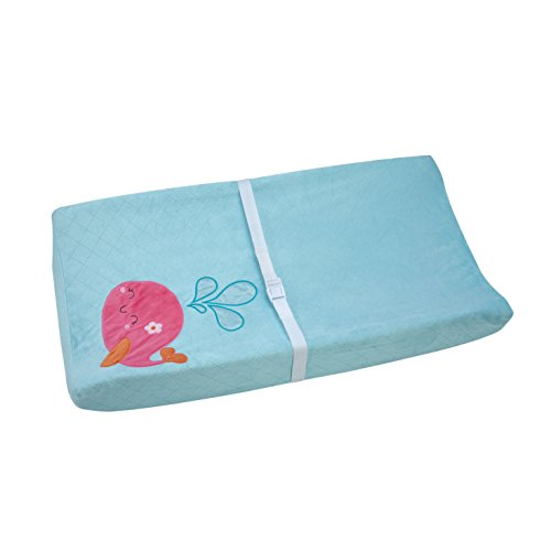 Carter's Sea Collection Contoured Changing Pad Cover, Pink/Blue/Turquoise