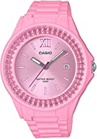 Casio LX-500H-4E2VDF Resin Round Analog Water Resistant Watch for Women - Pink