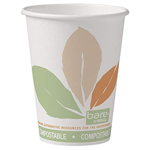 Dart 16620 PLA lijnen papier Hot Cup, Bloom/Bare, 412PLN-J7234, 12 oz. (Pack van 1000)