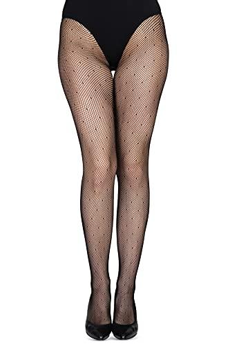 NYS Netzstrumpfhose für Damen, Schwarz Strümpfe Netzstrumpfhose für Damen Strumpfhose Burlesque, Punkte