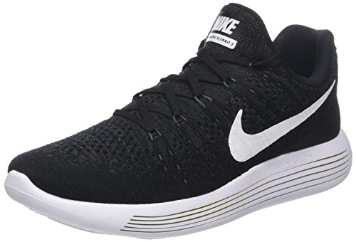 Nike Lunarepic Low Flyknit 2, Zapatillas de Entrenamiento para Hombre, (Black/White-Anthracite 001), 45 EU