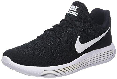 Nike Lunarepic Low Flyknit 2, Scarpe Running Uomo, Multicolore (Black/White-Anthracite 001), 45.5 EU
