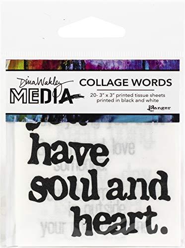 Dina Wakley Media Collage paper, zzzz-s, Black and White